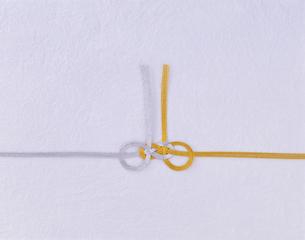 金と銀の水引きの写真素材 [FYI01594286]