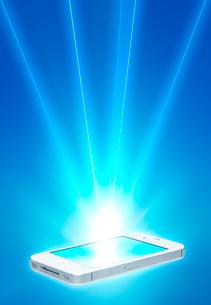 スマートフォンと通信イメージの写真素材 [FYI01594795]