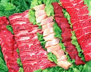焼肉材料の集合の写真素材 [FYI01595202]
