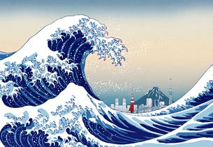 神奈川沖浪裏CGの写真素材 [FYI01595402]