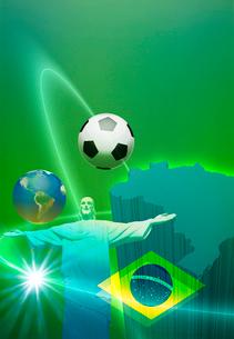 ブラジルワールドカップのイメージCGの写真素材 [FYI01595761]