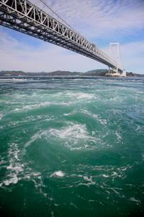 鳴門のうずしお 大鳴門橋の写真素材 [FYI01596348]