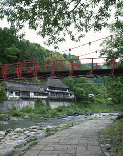 香嵐渓 一の谷 香嵐橋の写真素材 [FYI01596637]