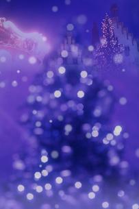 青いクリスマスイメージの写真素材 [FYI01597255]