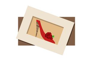 赤いくつのポストカードのイラスト素材 [FYI01597567]