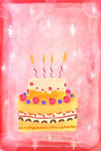 誕生日ケーキのイラストのイラスト素材 [FYI01597625]