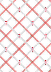 紅白の水引とのしの背景のイラスト素材 [FYI01598127]