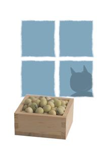 福豆と節分の鬼のイラスト素材 [FYI01598139]