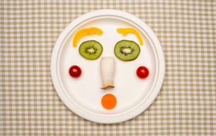 野菜と果物で作る顔の写真素材 [FYI01598216]