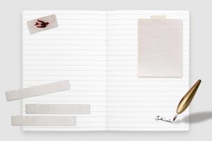 メモとノートの写真素材 [FYI01598239]