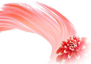 ダリアの花と抽象画の組み合わせのイラスト素材 [FYI01598351]