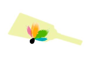 カラフルな羽子板と羽のイラスト素材 [FYI01598586]