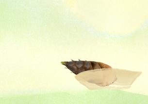 籠のイメージと筍のイラスト素材 [FYI01599267]