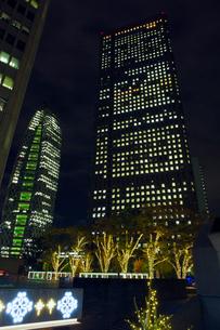 高層ビル群とイルミネーション,新宿の写真素材 [FYI01599898]