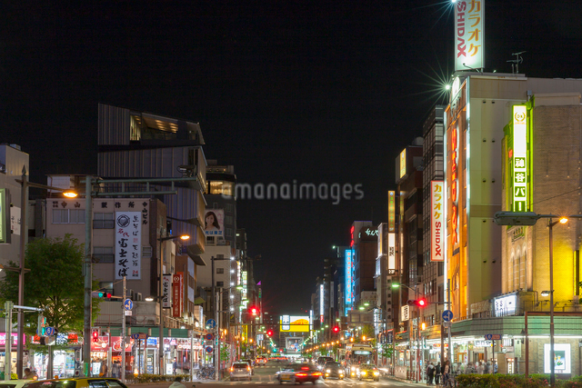 浅草,夜景の写真素材 [FYI01599954]