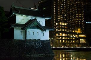 江戸城坂下門ライトアップの写真素材 [FYI01600049]