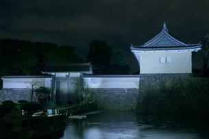江戸城大手門ライトアップの写真素材 [FYI01600152]