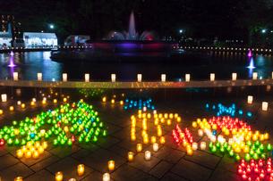 日比谷公園 キャンドルライトアップの写真素材 [FYI01600555]