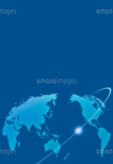 世界地図と光のラインの写真素材 [FYI01600833]