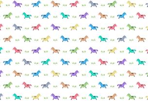 カラフルな馬のパターンイラストのイラスト素材 [FYI01600835]
