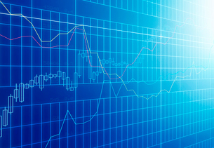 線グラフと株価チャートの写真素材 [FYI01600844]
