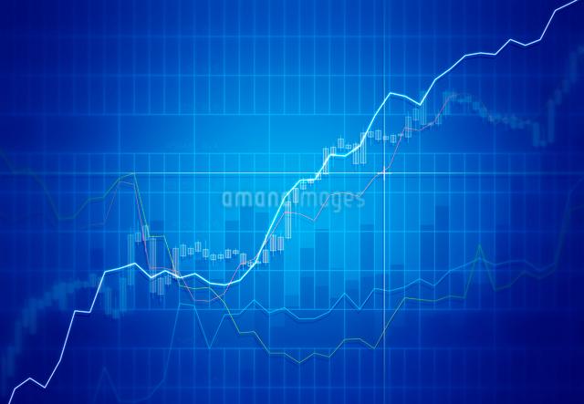 線グラフと株価チャートの写真素材 [FYI01600865]