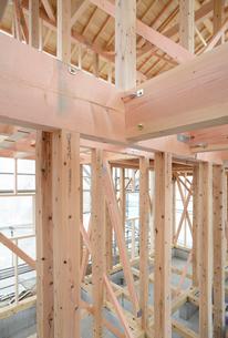 木造住宅の新築工事の写真素材 [FYI01601001]