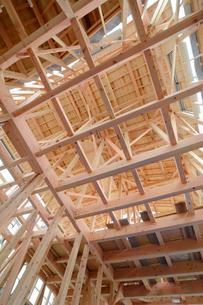 木造住宅の新築工事の写真素材 [FYI01601018]