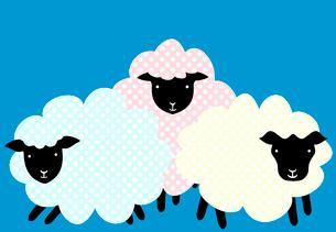 三頭の羊のイラスト素材 [FYI01601031]