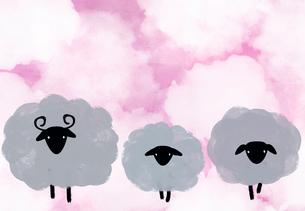 羊の親子のイラスト素材 [FYI01601035]