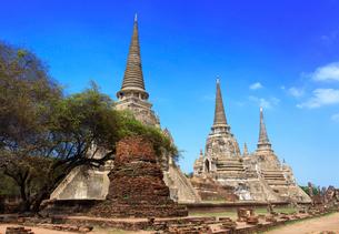 ワット・プラシーサンペットの3本の仏塔の写真素材 [FYI01601080]