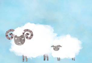 羊の親子のイラスト素材 [FYI01601088]