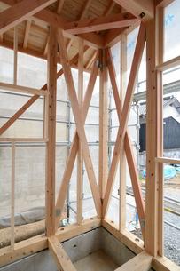 木造住宅の新築工事の写真素材 [FYI01601129]