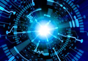 トンネルと光の回路のイラスト素材 [FYI01601140]
