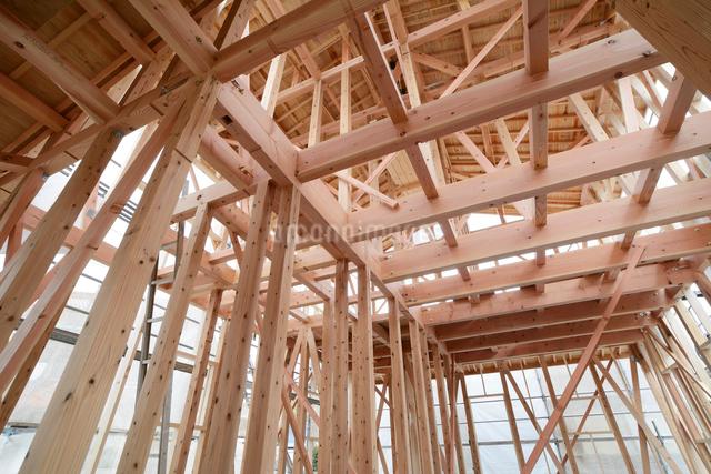 木造住宅の新築工事の写真素材 [FYI01601143]