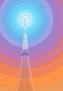 電波とスカイツリーのイラスト素材 [FYI01601210]