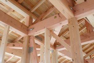 木造住宅の新築工事の写真素材 [FYI01601216]