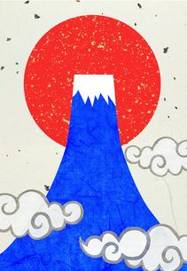 富士山と日の出のコラージュイラストのイラスト素材 [FYI01601230]