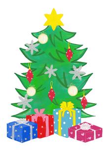 クリスマスツリーとプレゼントのイラスト素材 [FYI01601239]