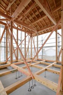 木造住宅の新築工事の写真素材 [FYI01601242]