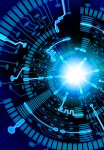 トンネルと光の回路のイラスト素材 [FYI01601255]
