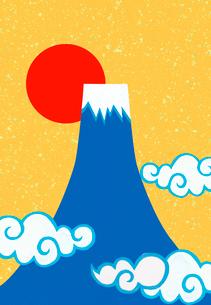 富士山と日の出のコラージュイラストのイラスト素材 [FYI01601275]