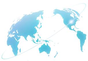 世界地図と光のラインの写真素材 [FYI01601316]