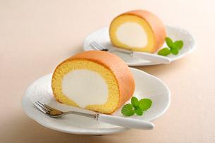 ロールケーキの写真素材 [FYI01601395]