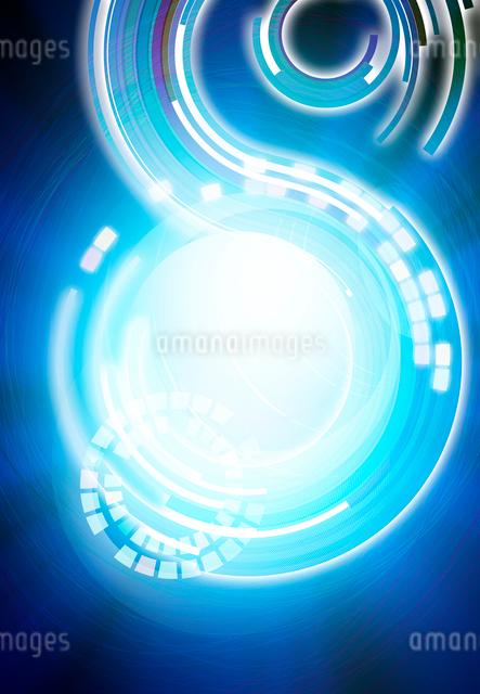 回転する光の軌跡のアブストラクトの写真素材 [FYI01601397]