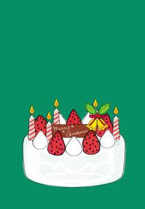 クリスマスケーキのイラスト素材 [FYI01601434]