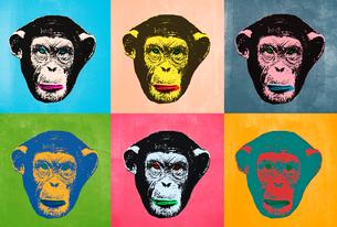 POPアートチンパンジーのイラスト素材 [FYI01601437]