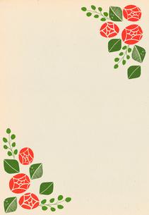バラの花のフレームのイラスト素材 [FYI01601517]