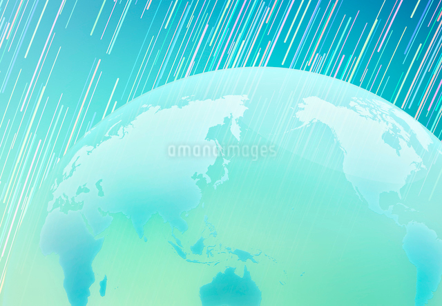 回転する星空と透明の地球の写真素材 [FYI01601586]