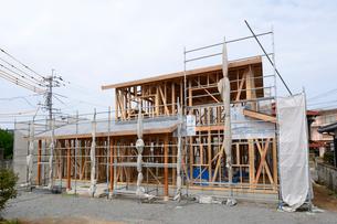 木造住宅の新築工事の写真素材 [FYI01601628]